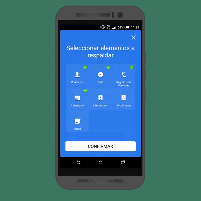 Copia de seguridad Android elementos