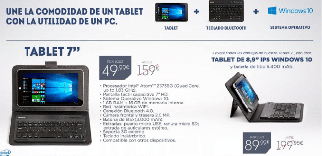 tablet windows prixton