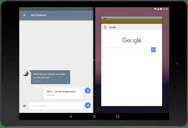 beta Android N multiventana