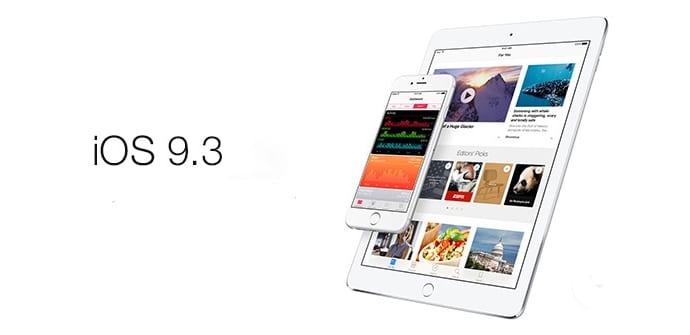 iOS 9.3 actualizacion