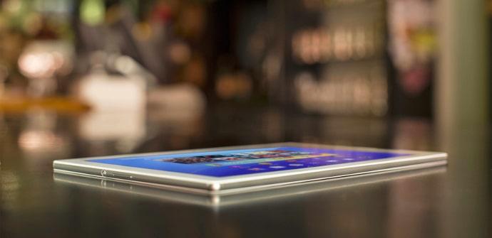 Xperia Z4 tablet angulo de vision