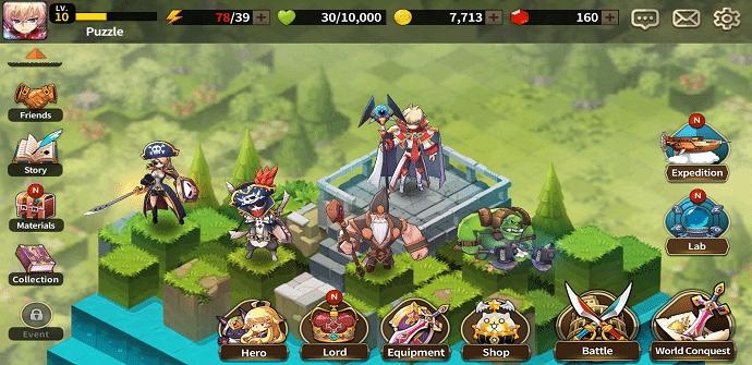 fantasy war tactics pantalla