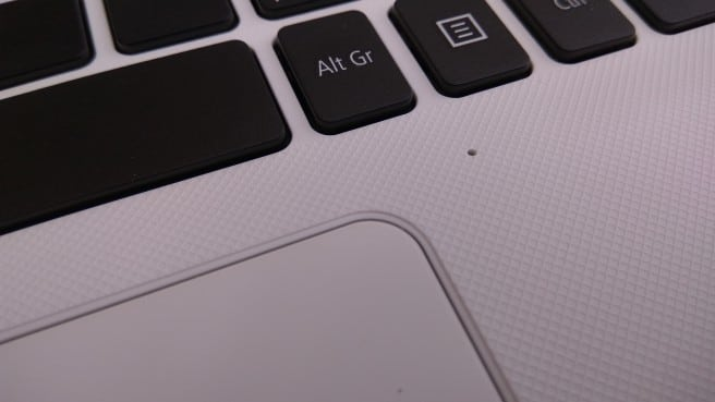 Notebook Aspire E15 trackpad