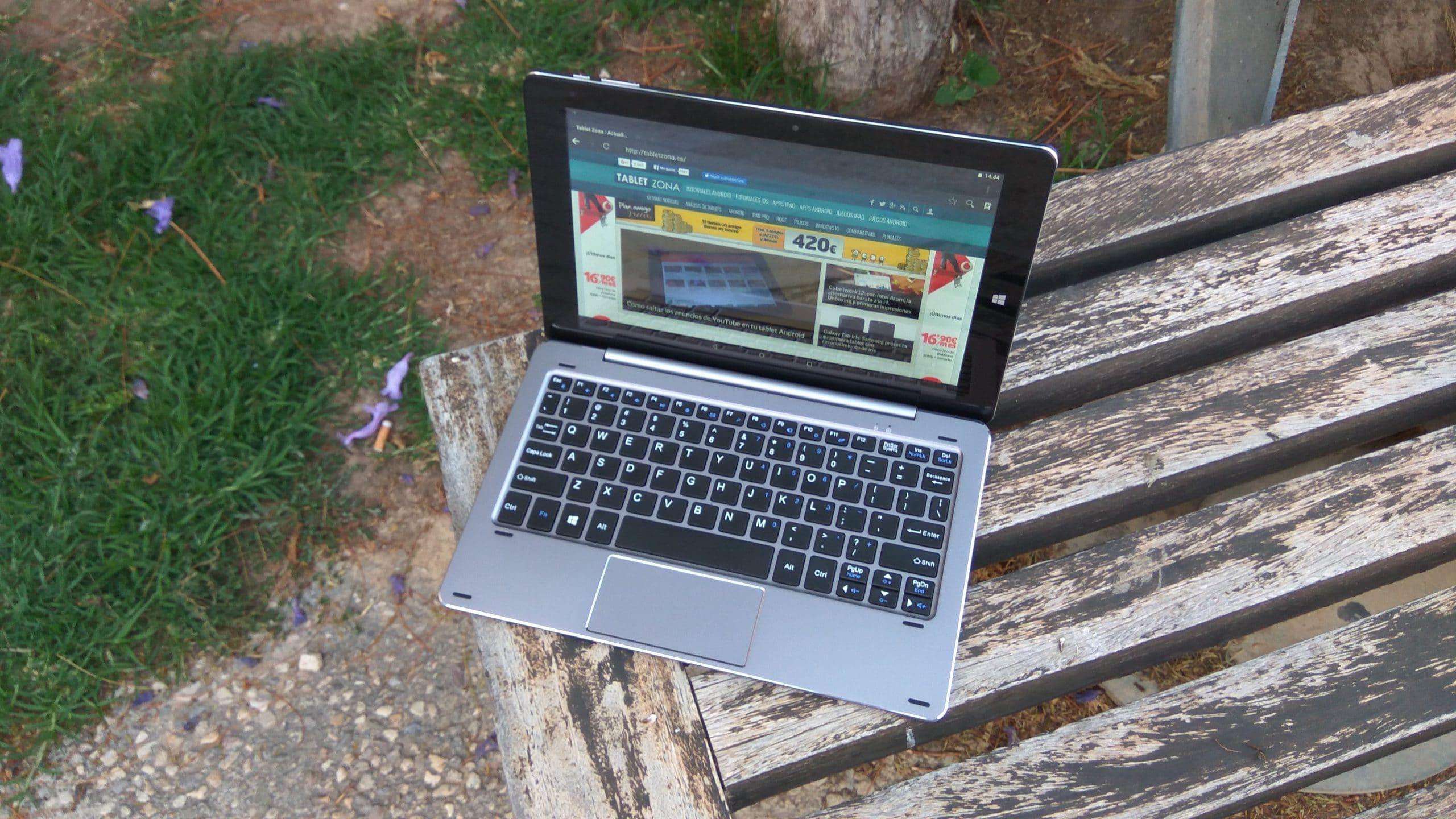 HiBook 10.1 modo portatil