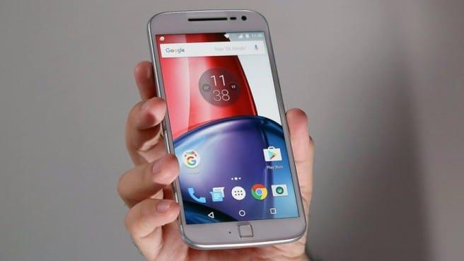 Motorola Moto G4 Plus blanco frontal