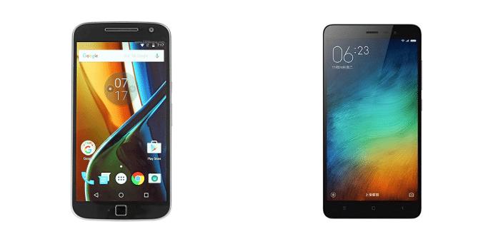 Moto G4 Plus Xiaomi Redmi Note 3