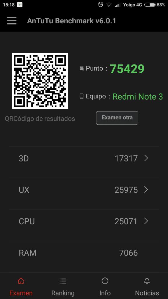 Xiaomi phablet rendimiento