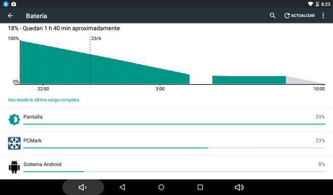 tablet SPC 64 bits bateria