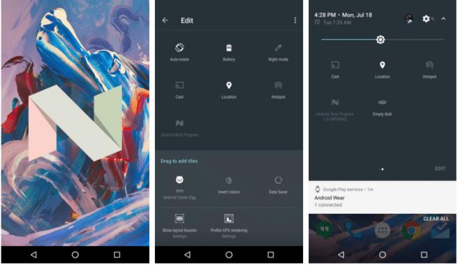 Android 7 huevo de pascua