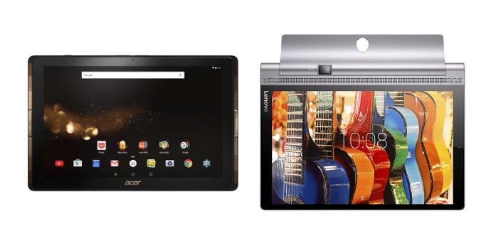 Acer Iconia 10 Lenovo Yoga Tab 3