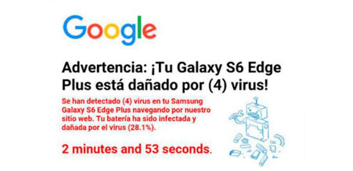 advertencia virus