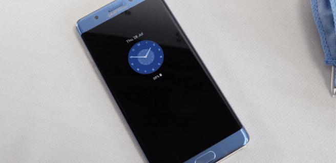 Galaxy Note 7 always on display