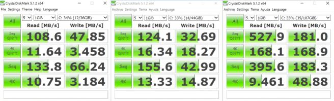CrystalDiskMark Chuwi HiBook Pro 2K