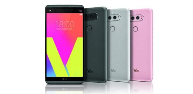 LG V20 colores