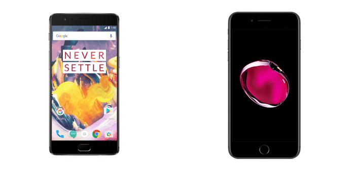 OnePlus 3T Apple iPhone 7 Plus