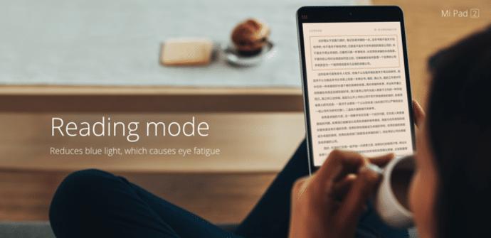 Xiaomi Mi pad 2 modo lectura integrado