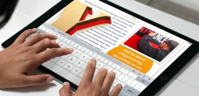 iPad Pro teclado tactil