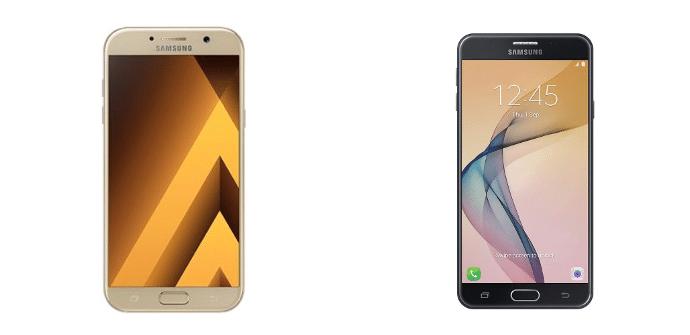 Samsung Galaxy A7 2017 Samsung Galaxy J7 Prime