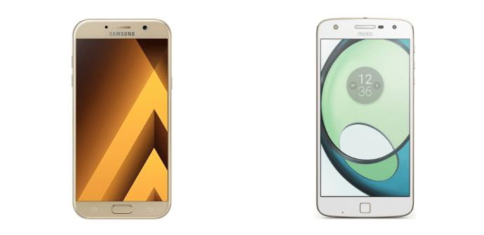 Samsung Galaxy A7 2017 Motorola Moto Z Play