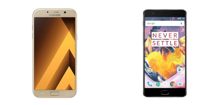Samsung Galaxy A7 2017 OnePlus 3T