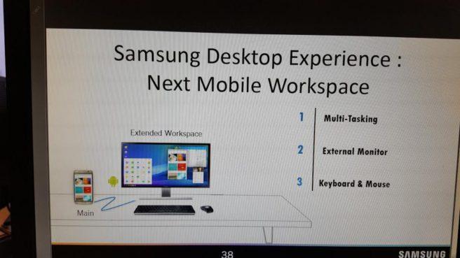 Samsung desktop experiencie