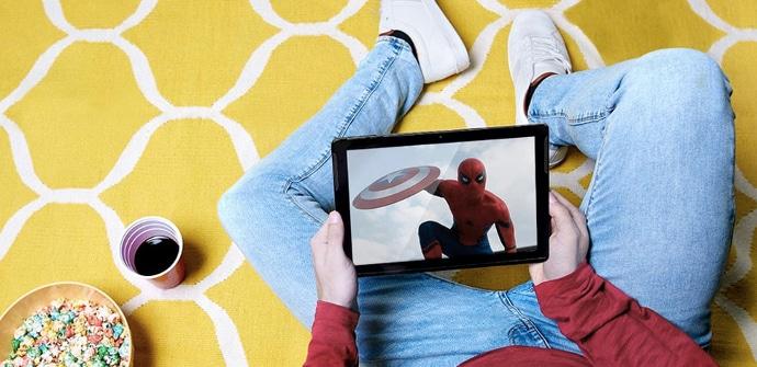 Energy Tablet Max 3 reproduciendo spiderman