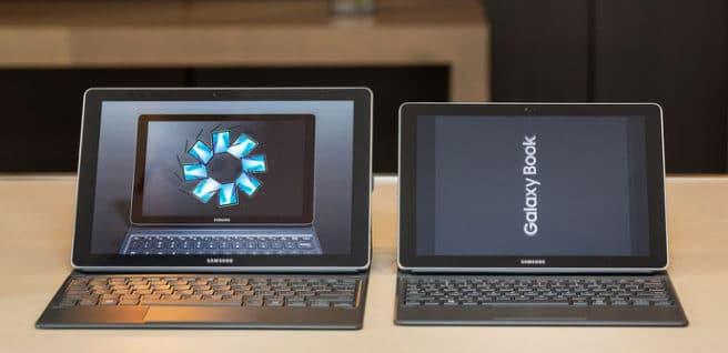 Table Samsung con Windows 10 dos tamaños