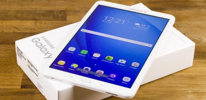 Tablet Samsun Galaxy Tab A 2016 con su caja