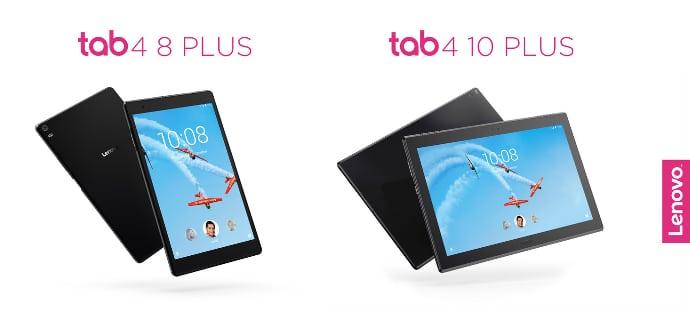 Lenovo Tab 4 10 Plus y 8 Plus imagenes de prensa