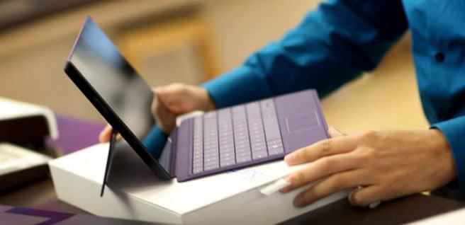 tablet Surface procesador