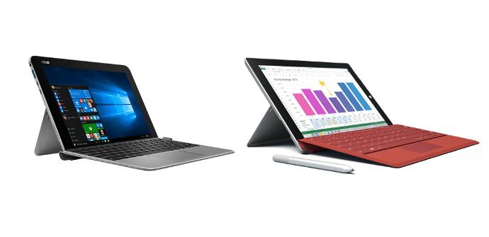 Asus Transformer mini Microsoft Surface 3