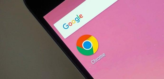Nexus 6p con icono de la app chrome