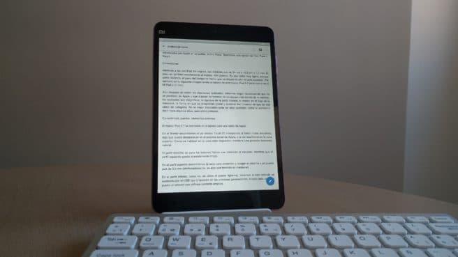 tablet mi Pad 2 Android modo lectura