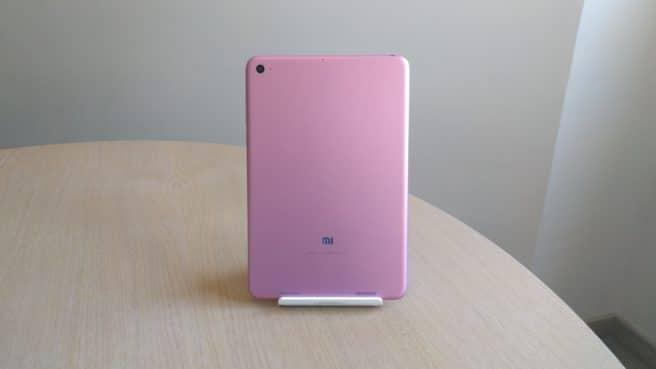 tablet mi Pad 2 Android trasera rosa