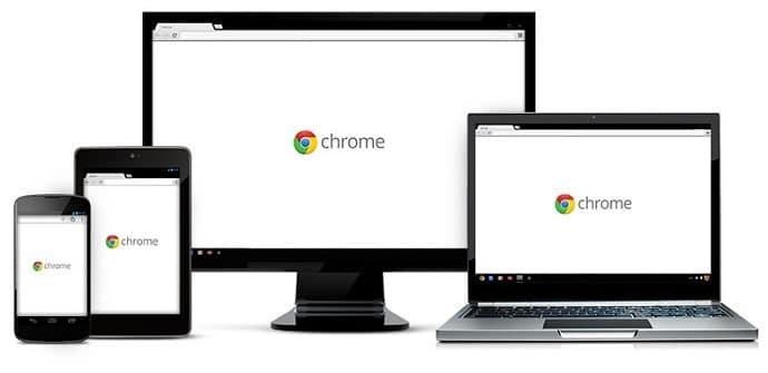 google chrome pantalla