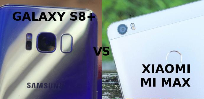 samsung galaxy s8+ samsung mi max