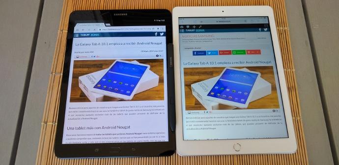 Galaxy Tab S3 contra iPad 9.7 comparativa en video