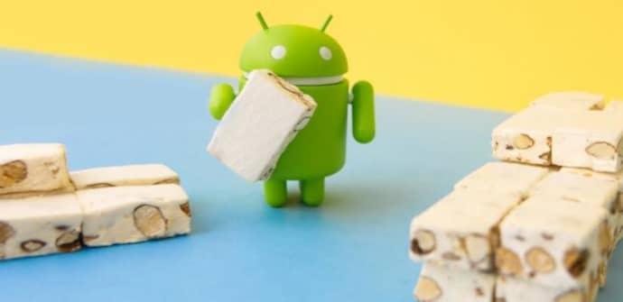 android nougat pantalla