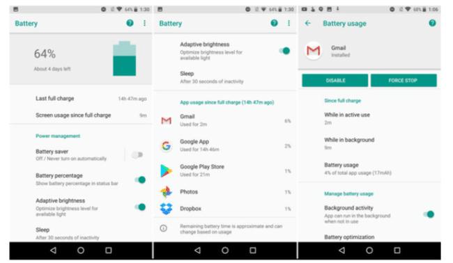 Novedades bateria en Android O