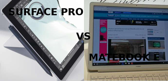 microsoft surface pro huawei matebook e