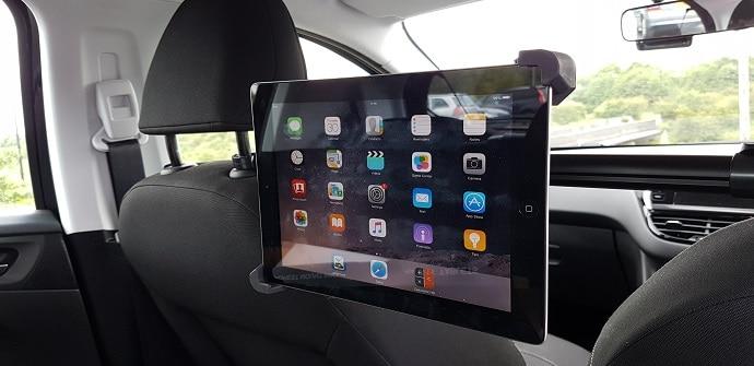 accesorios coche tablets
