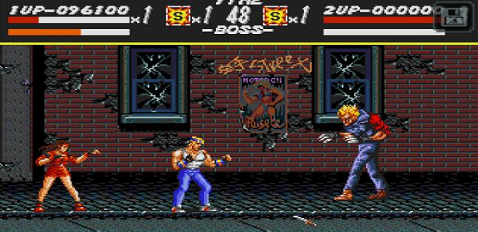 streets of rage classic pantalla
