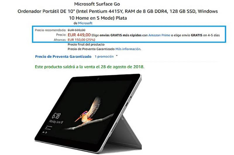 Amazon ha ofrecido el Surface Go con una oferta del 25%. ¿Volverá?