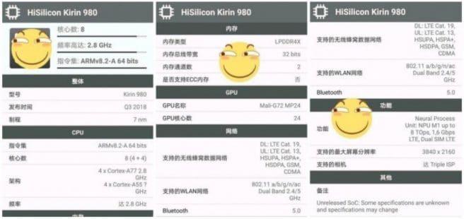 Benchmarks del Kirin 980 de Huawei