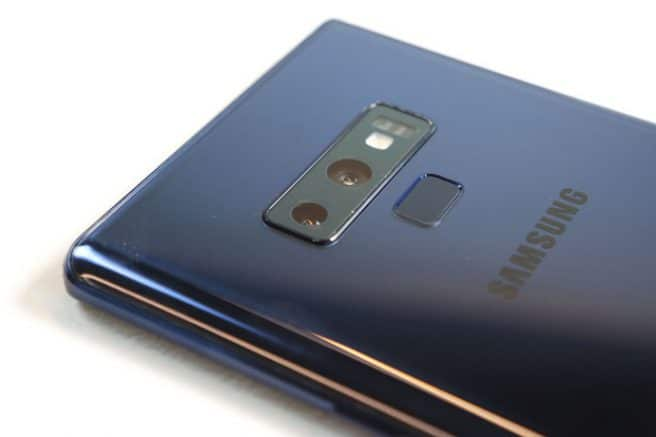 Sensor de huellas en Galaxy Note 9