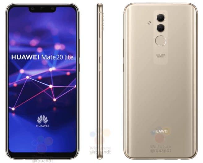 Huawei Mate 20 lite en dorado