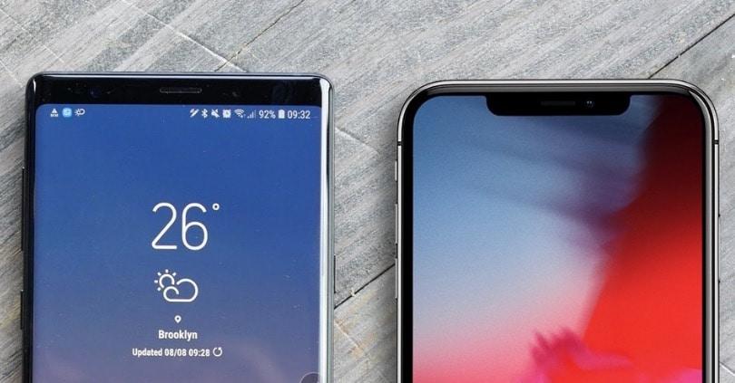 Galaxy Note 9 vs iPhone X Plus