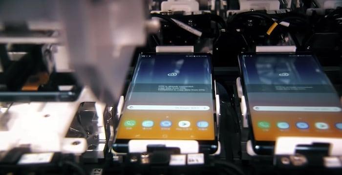 Captura del Note 9 en video