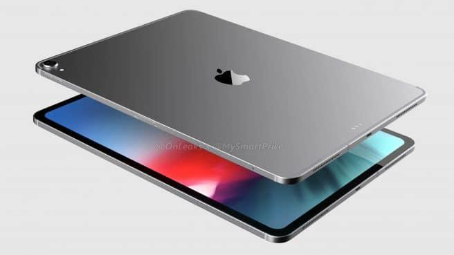 Renderizado de iPad Pro 2018 tumbado