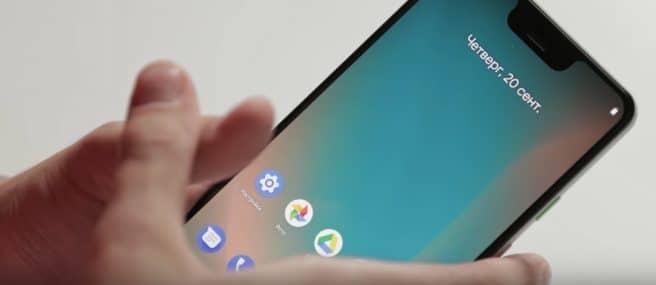 Pixel 3 XL encendido
